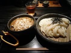 季節限定メニュー「牛と茄子と香味油のつけ麺」